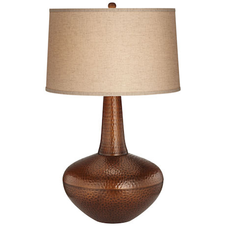Hammered Autumn Copper Table Lamp