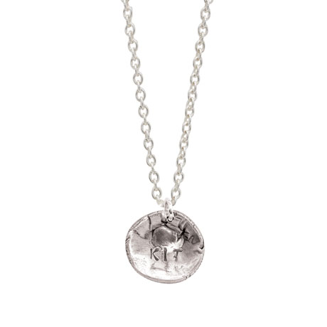 Sterling Silver Personalized Pet Nose Print Necklace