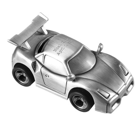 Personalized Sports Car Piggy Bank