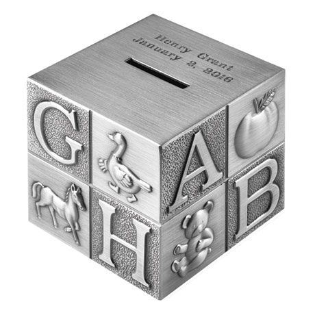 Personalized ABC Block Piggy Bank