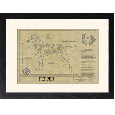 Personalized Framed Dog Breed Architectural Renderings - Dalmatian