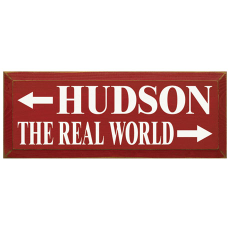 "Personalized ""The Real World"" Wood Wall Art"