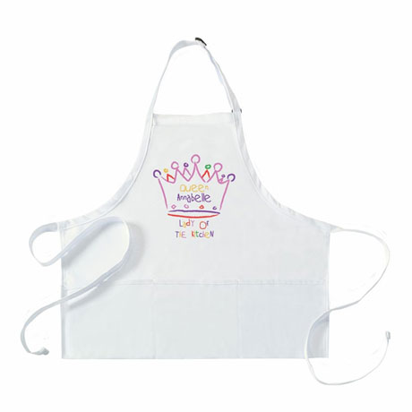 """Personalized """"Queen"""" Mommy & Me Apron"""