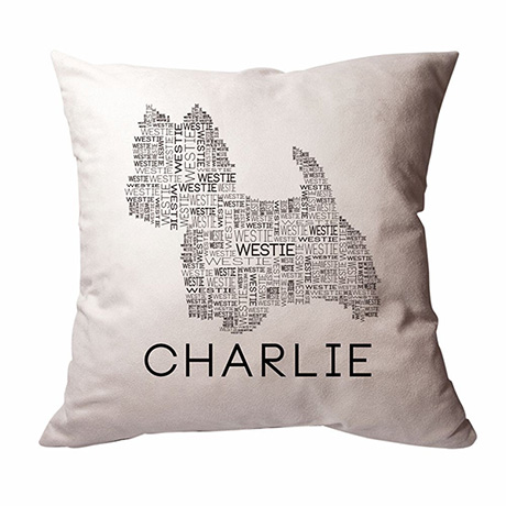 Personalized Dog Breed Word Cloud Pillow
