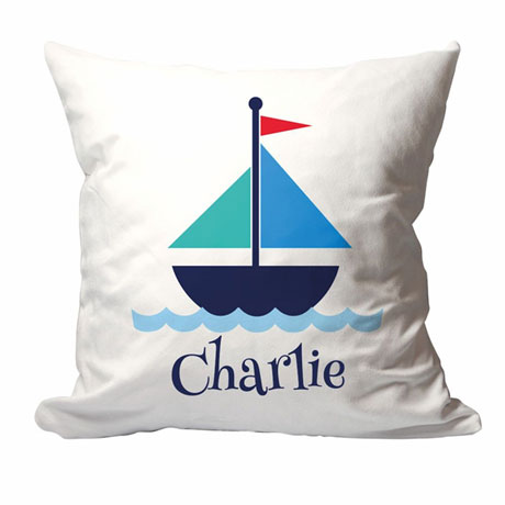 Personalized Sail Boat Pillow