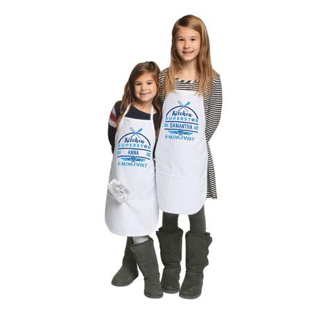 """Personalized Children's """"Kitchen Superstar"""" Apron"""