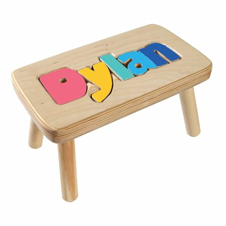 Personalized Children S Wooden Puzzle Step Stool 1 5