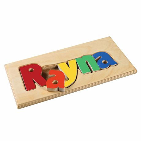 Personalized Children's Wooden Puzzle Board - 1-6 Letters