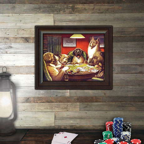 "Personalized Framed ""Dogs Playing Poker"" Print"