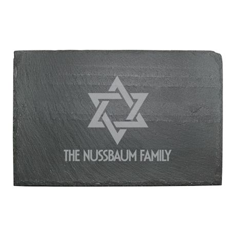 Personalized Star of David Slate Cheese Board