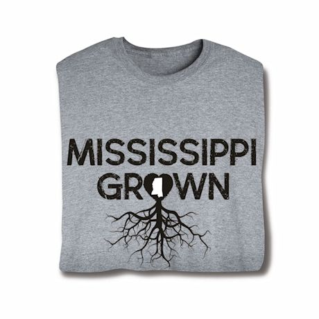 """""""Homegrown"""" T-Shirt - Choose Your State - Mississippi"""