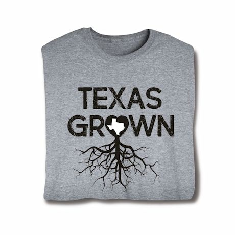 """""""Homegrown"""" T-Shirt - Choose From Any State - Texas"""