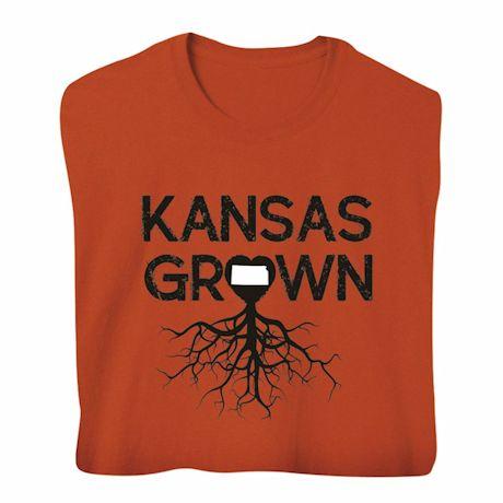 """Homegrown"" T-Shirt - Choose Your State - Kansas"