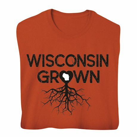 """Homegrown"" T-Shirt - Choose Your State - Wisconsin"