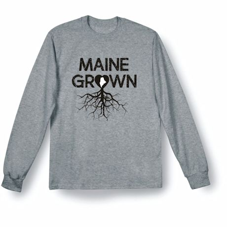 """""""Homegrown"""" T-Shirt - Choose From Any State - Maine"""