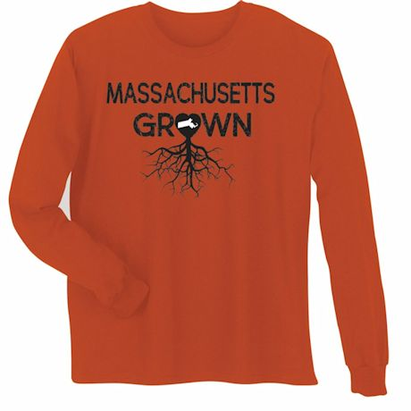 """Homegrown"" T-Shirt - Choose Your State - Massachusetts"