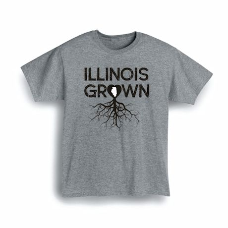 """Homegrown"" T-Shirt - Choose From Any State - Illinois"