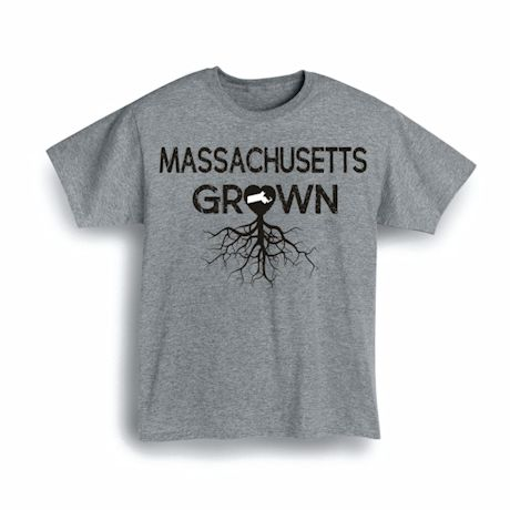"""Homegrown"" T-Shirt - Choose Your State - Massachusetts"