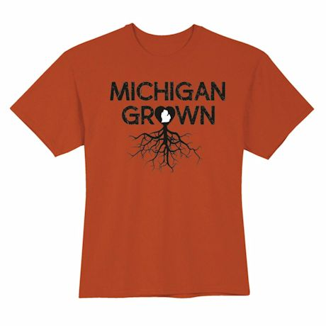 """""""Homegrown"""" T-Shirt - Choose From Any State - Michigan"""