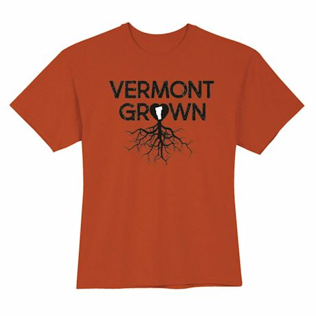 """Homegrown"" T-Shirt - Choose Your State - Vermont"