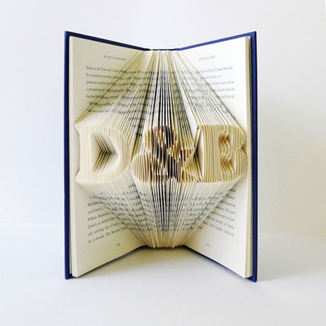 Custom Folded Book Art - Initials with Ampersand