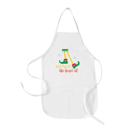 "Personalized Children's ""Head Elf"" Apron"