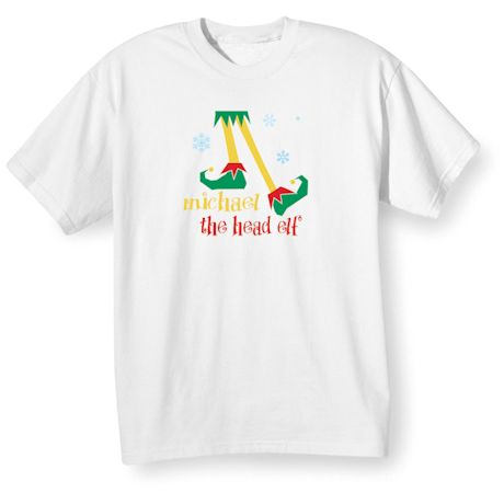 "Personalized ""Head Elf"" Shirt"
