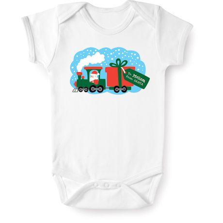 Personalized Children's Christmas Locomotive Shirt