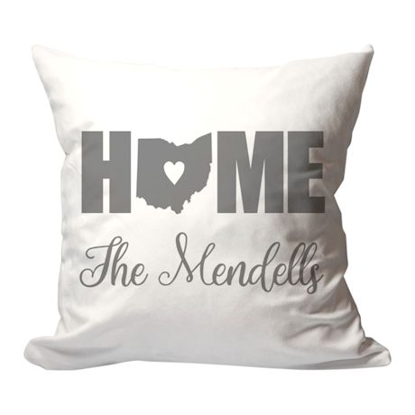Personalized Home State Pillow