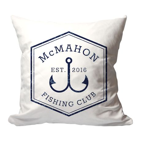 Personalized Fishing Club Pillow