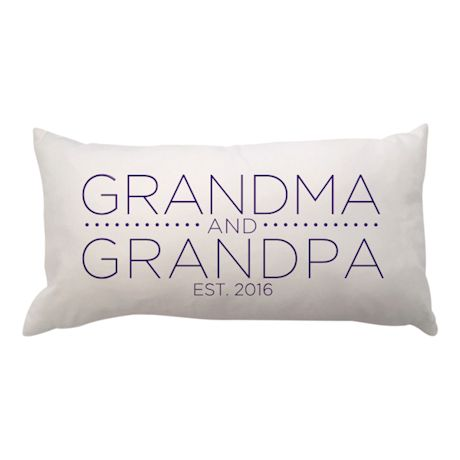 Personalized Grandma and Grandpa Lumbar Pillow