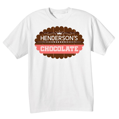 "Personalized ""Your Name"" Scalloped Chocolate Tee"