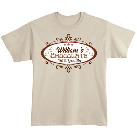 """Personalized """"Your Name"""" 100% Quality Chocolate Tee"""
