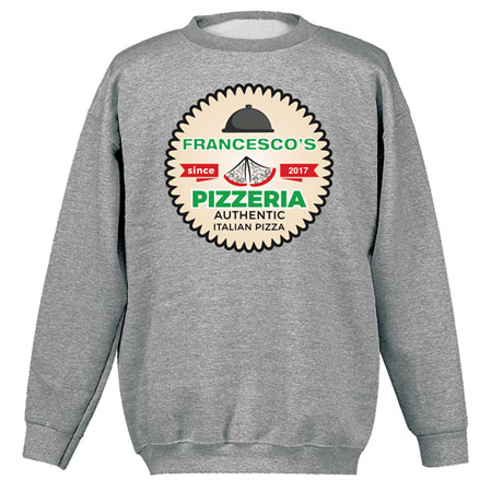 """Personalized """"Your Name"""" Authentic Italian Pizza Tee"""