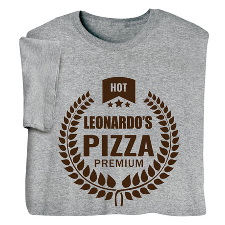 """Personalized """"Your Name"""" Premium Pizza Tee"""