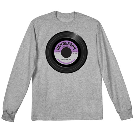 """Personalized """"Your Name"""" Vintage Record Tee"""