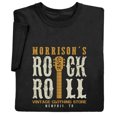 """Personalized """"Your Name"""" Vintage Rock & Roll Tee"""