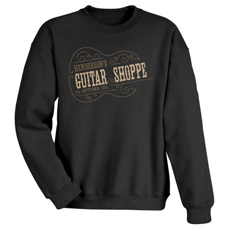 """Personalized """"Your Name"""" Vintage Guitar Shoppe Tee"""