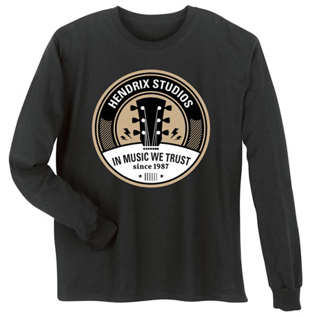 """Personalized """"Your Name"""" In Music We Trust Tee"""