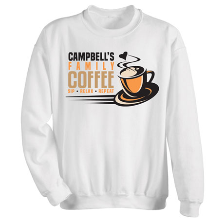 """Personalized """"Your Name"""" Family Café Tee"""