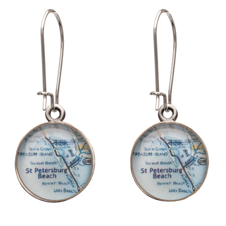 Custom Map Earrings