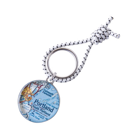 Custom Map Key Ring