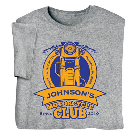 """Personalized """"Your Name"""" Motorcycle Club Tee"""