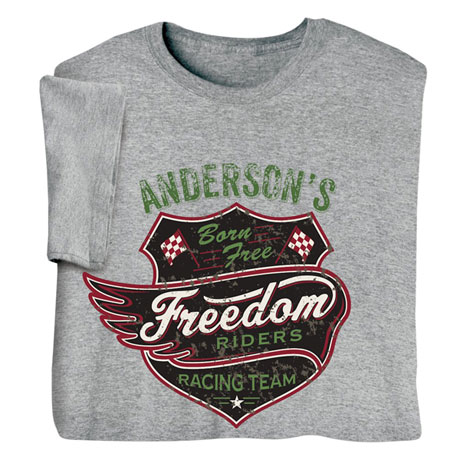 "Personalized ""Your Name"" Freedom Riders Tee"