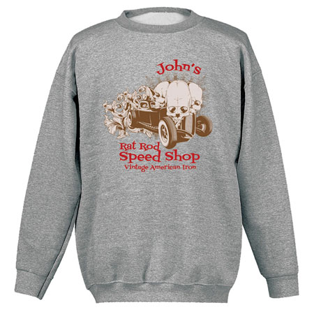 """Personalized """"Your Name"""" Rat Rod Speed Shop Tee"""