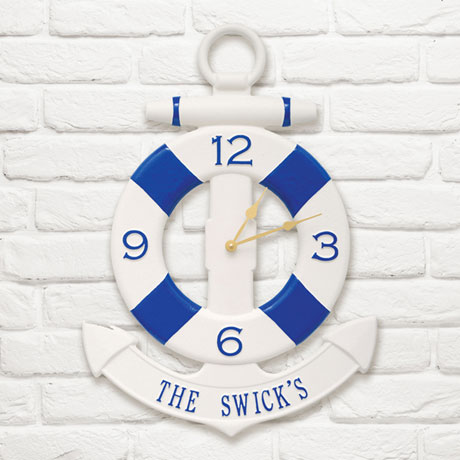 Personalized Anchor Indoor/Outdoor Wall Clock