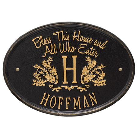 "Personalized ""Bless This Home"" Wall Plaque"