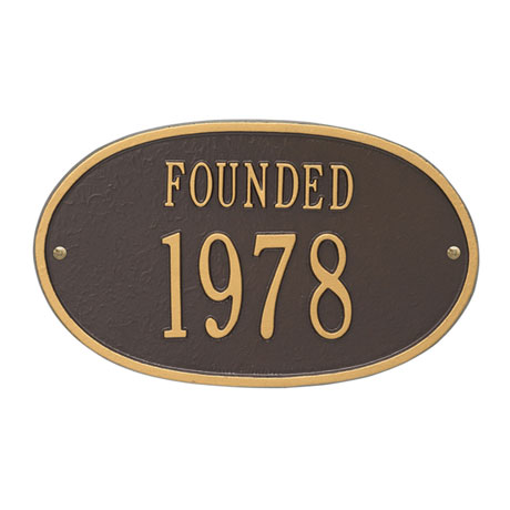 """Personalized """"Founded"""" Plaque"""