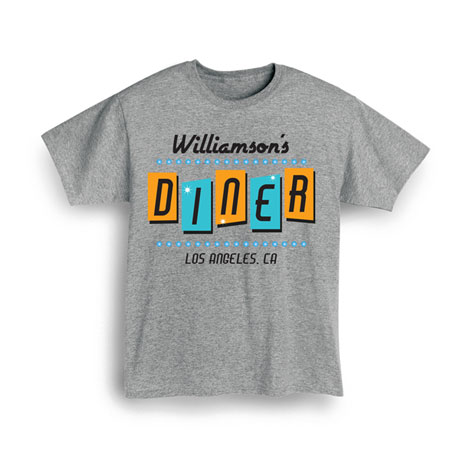 "Personalized ""Your Name"" Retro Diner Tee"