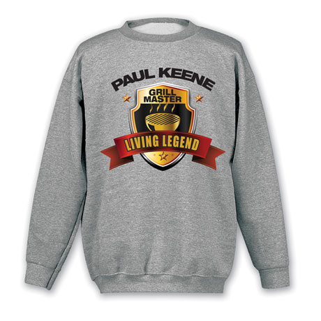 """Personalized """"Your Name"""" Living Legend Series - Grill Master Tee"""